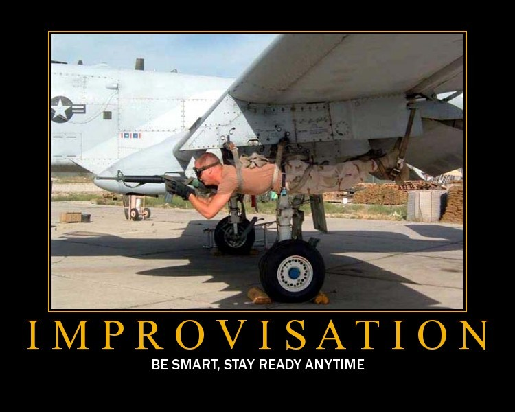 Improvisation is about flexibility