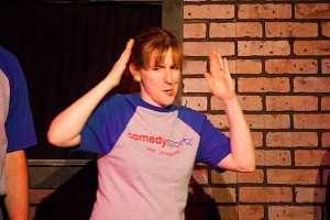 Kathy doing Improv