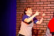 Kathy doing Improv Comedy