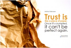 You're Expected to Be Trusted - Not a Source of Differentiation